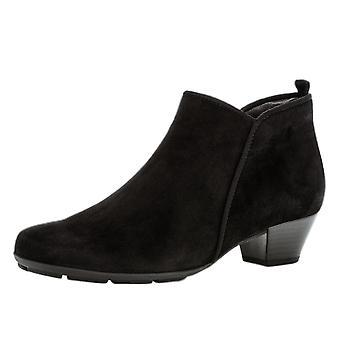 غابور ترودي أحذية الكاحل الحديثة في جلد الغزال الأسود