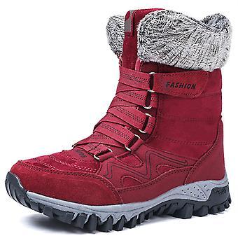 Bottes de neige haute cheville femmes 9961 Red1