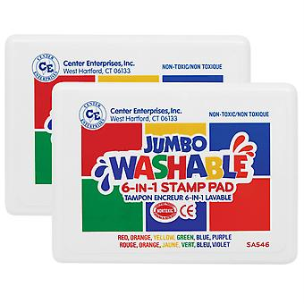 Washable 6-In-1 Stamp Pad, Pack Of 2