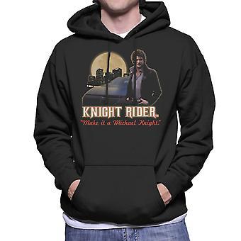 Knight Rider gör det till en Michael Knight Men & apos, s Hooded Tröja