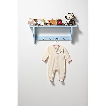 Το ουσιαστικό ένα unisex μωρό γεια κρέμα sleepsuit