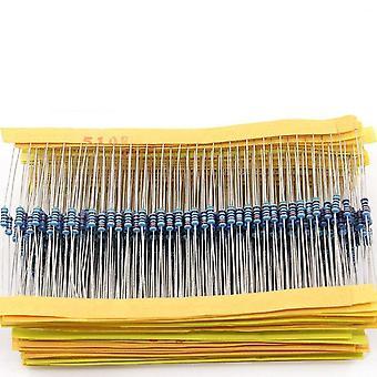 Resistor Assortment Kit Set 1r-10mr 1ohm-10mohm 50 Values 1/4w 0.25w