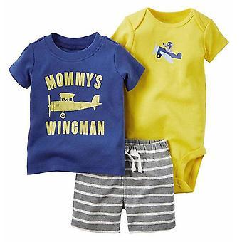 Letnia koszulka dla dzieci, krótki i romper set, design 11
