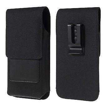 Nowy design case Metal Belt Clip Vertical Textile and Leather z uchwytem na kartę do wytrzymałego Caterpillar CAT S52 (2020)