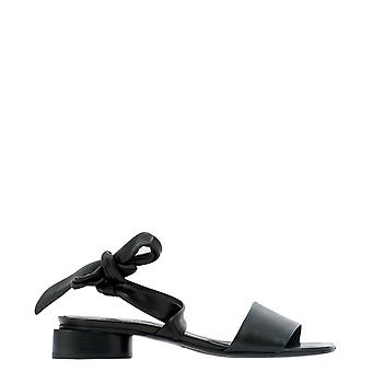 Halmanera Dalia22nero Women's Black Leather Sandals