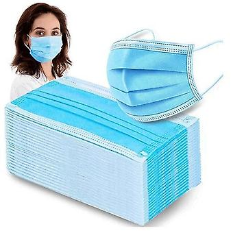200 stuks. - CE-goedgekeurde gezichtsmaskers - gezichtsmaskers 3-laags