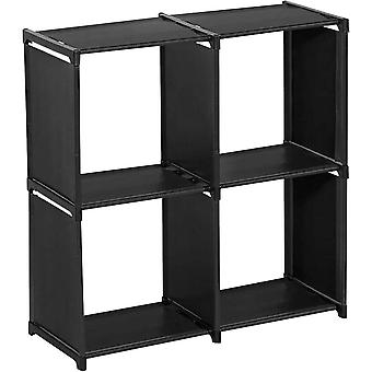 Small Shelf with Four Compartments - Black