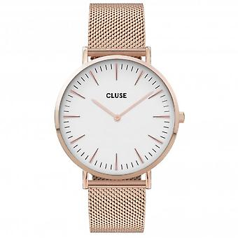 Cluse CW0101201001 Women's Boho Chic Mesh Rose Gold Tone Wristwatch