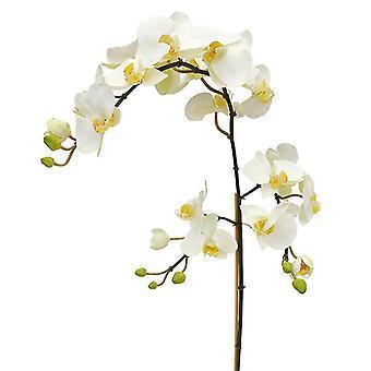 Kunstmatige Phalaenopsis tak XL 110 cm wit