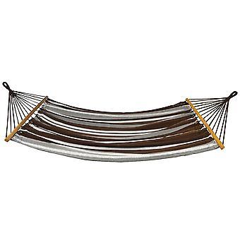 Hängmatta 2-personer - 200x150 cm - brun randig