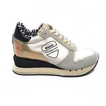 Shoes Blauer Sneaker Running Casey Suede/ Nylon Cream/ Multicolor Ds21bu03 S1casey01