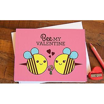 Bee My Valentine Card