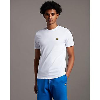Camiseta de pescoço de Lyle & Scott Crew - Branco