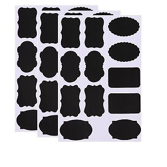 Creative Blackboard Spice Sticker Reusable Label Stickers