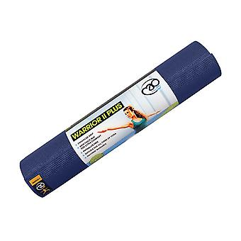 Fitness mad dark blue warrior yoga mat ii 6mm for yoga fitness and pilates with