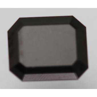 Cert 0,91 Karat Fancy Musta Smaragdi parannettu luonnollinen timantti 6.03x5.01mm