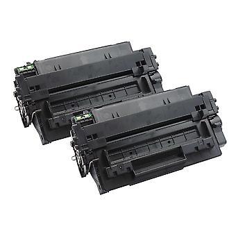 2 cartucce toner laser nere Go Inks per sostituire HP CE255A (55A) compatibile/non OEM per stampanti HP Laserjet Pro