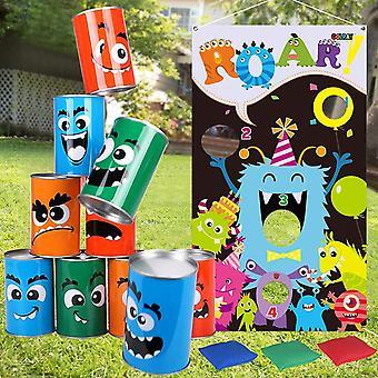 FengChun Monsters Dosenwerfen werfen Spiel Sitzsck Halloween Wurfspiel Kinder mit 3 Sitzsack Wurf