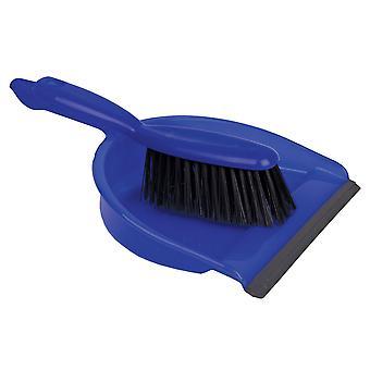 Robert Scott Blue Dustpan & Stiff Brush