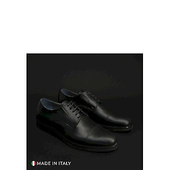 Duca di Morrone - Shoes - Lace-up shoes - 605-PELLE-NERO - Men -- Schwartz - EU 42