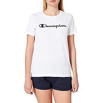 Champion Legacy Classic Logo T-Shirt, Mulher Branca, Pequena