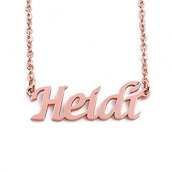 KL Heidi - Kaulakoru custom nimi, päällystetty 18 karat Ruusukulta, Säädettävä Ketju 16-19 cm