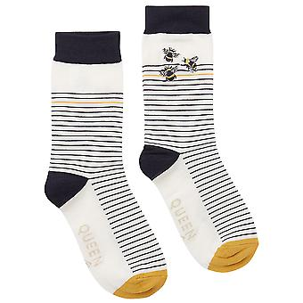 Joules Kvinders Brill Bambus Broderet Casual Socks