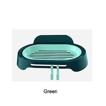 WC Rei'itys ilmainen saippuateline saippua-astia imu seinä saippua pidike tyhjennä saippualaatikko (vihreä)