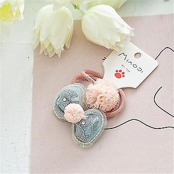 5Pcs per bambini bambini anello capelli corda caramella colore fiocco