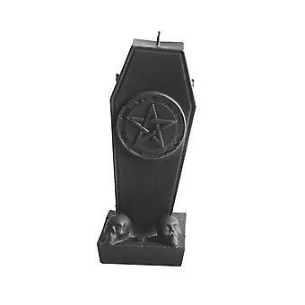 De zwarte Kaars van de Doodskist pentagram