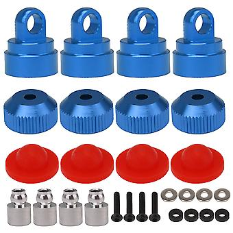4x Blue 3767A 3767X Alloy Shock Cap Kit Replacement for Traxxas RC Car