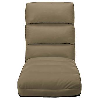 vidaXL chaise pliante pliable cappuccino-brun en similicue