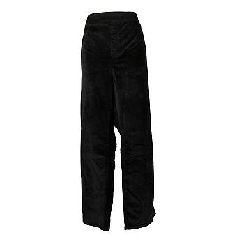 DG2 By Diane Gilman Womens Pants Plus Stretch Velvet Boot-Cut Black 727983