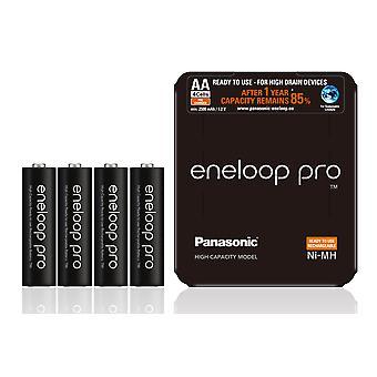 Panasonic ENELOOP PRO Ni-MH 4x AA 2500mAh 1.2 V Baterias recarregáveis