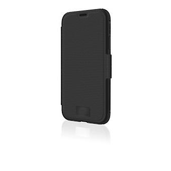 "Black Rock ""Robust"" Skyddsfodral för Apple iPhone 11 Pro, magnetisk klaff, plast, perfekt skydd vid 180° eller 360°, svart"