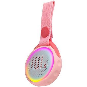 JR POP JBL - Przenośny głośnik dla dzieci - Bluetooth & Waterproof - Z wielokolorowymi trybami świetlnymi & naklejkami - Żywotność baterii 6 godzin, Różowy