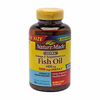 Nature Made Omega 3 Ultra Fish Oil, 1400mg, 90 Softgels