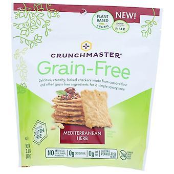 Crunchmaster Cracker Grn Free Med Herb, Case of 12 X 3.54 Oz