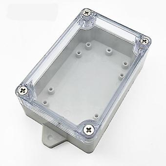 new 100mm x 68mm x 40mm clear cover sealed ip65 wire box sm35971