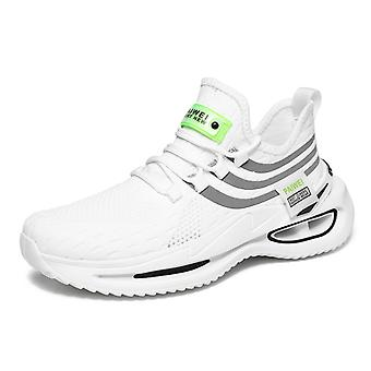 Platform low-top luminous flying knit trendy shoes 1EA15 White