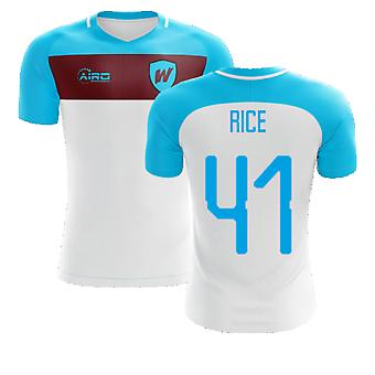 2020-2021 West Ham Away Koncept Fodboldskjorte (RICE 41)