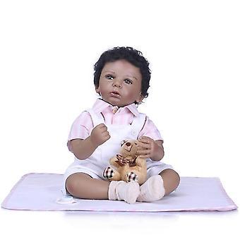 50Cm silicone reborn boneca realista mode baby dolls pour princesse enfants cadeau d'anniversaire bebes renaissant poupées