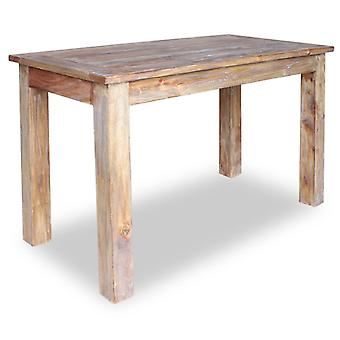 VidaXL 餐桌回收实木 120 x 60 x 77 厘米
