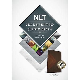 NLT Illustrated Study Bible Tutone BrownTan Indexed by Producer Tyndale