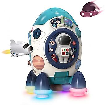 Musical Rocket Toys, Electronic Toy W Lights & Sounds, Play Drum