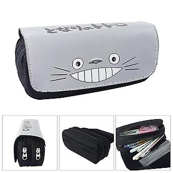 TOTORO Children's double-layer pencil case with large capacity(Color-1)
