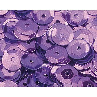 6mm Mauve Round Cupped Sequins - 4000pk