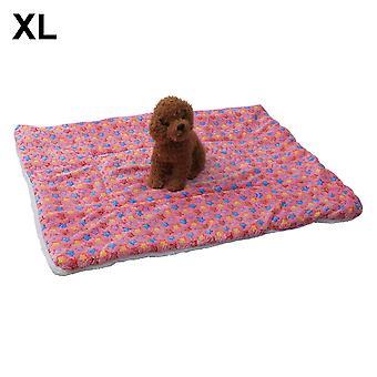(Estrelas cor-de-rosa) Tapete de sono de almofada de pelúcia quente para canil