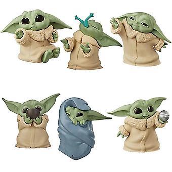 6Pcs Baby Yoda Toys Star Wars De Mandalorian Mini Actie Figuur Speelgoed Kinderen Geschenken
