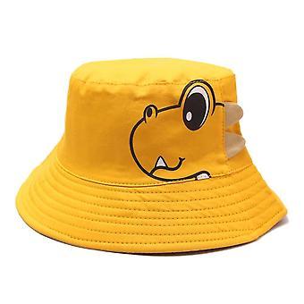 Zomer baby kinderen zon hoed cartoon dinosaurus emmer hoeden kinderen jongens meisjes outdoor anti uv bescherming strand caps